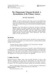 The Zimmermann Telegram Revisited - School of Information