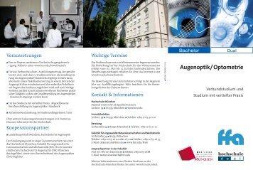 Infoflyer der Hochschule München zum Downloaden