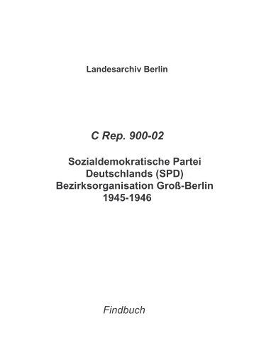 C Rep. 900-02 - Landesarchiv Berlin