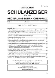 Amtlicher Schulanzeiger für den Regierungsbezirk Oberpfalz Nr. 2