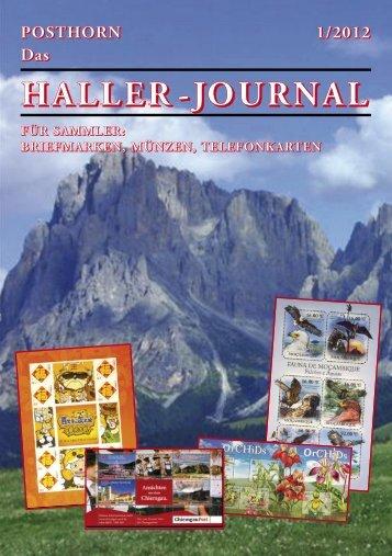 HALLER-Journal 2012 Ausgabe 1 (4.54 MB) - Briefmarken HALLER