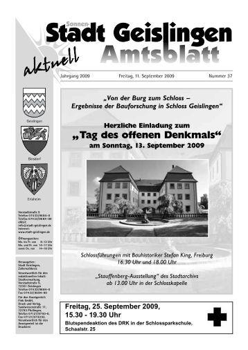 Amtsblatt Geislingen KW 37 - Stadt Geislingen