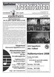 ASV Eppelheim Abt. Fußball Hallenturniere 2008