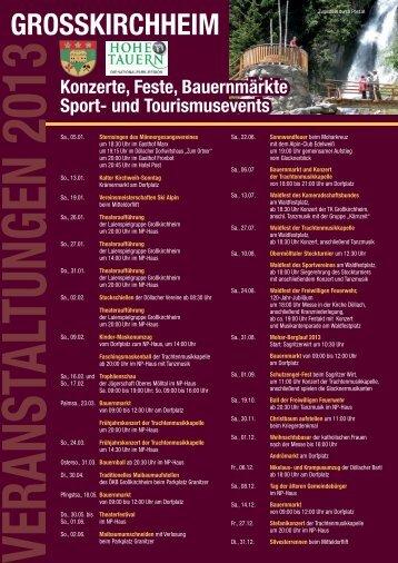 Veranstaltungen 2013 - Gemeinde Großkirchheim
