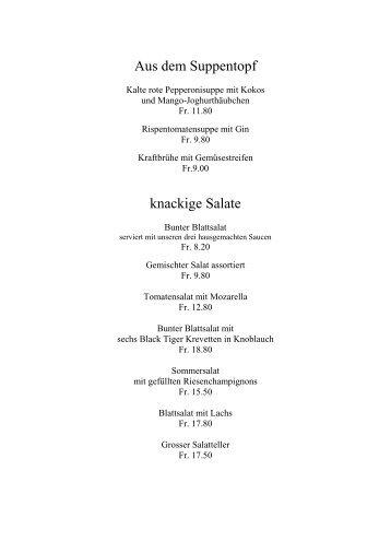 Speisekarte Sommer 2012 - Gasthaus