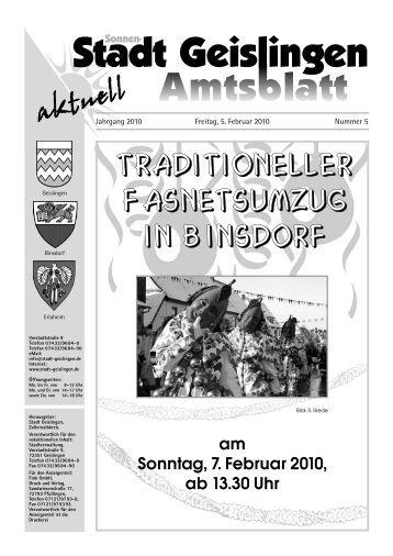 Amtsblatt Geislingen KW 5 - Stadt Geislingen