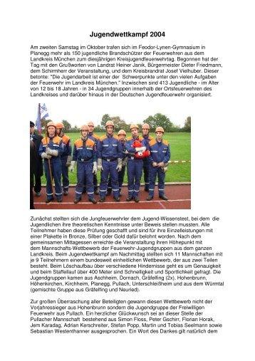 Jugendwettkampf 2004 - Freiwillige Feuerwehr Pullach