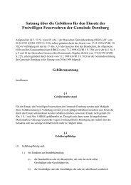 Satzung über die Gebühren für den Einsatz der - Gemeinde Dornburg
