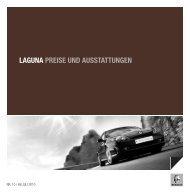 LAGUNA PREISE UND AUSSTATTUNGEN L - Garage Sigrist AG