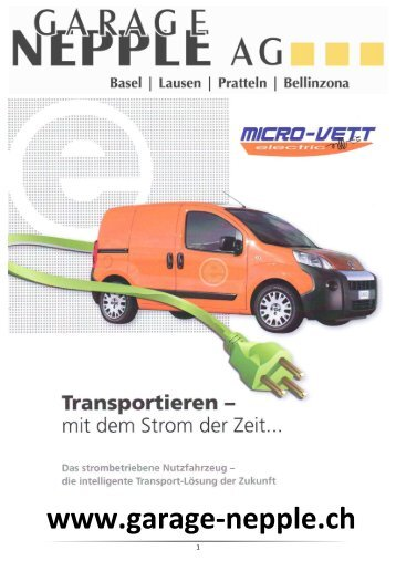 Vorlage Prospekt Micro Vett - Garage Nepple AG