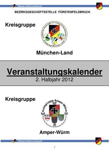 Veranstaltungskalender 2. Halbjahr - Verband der Reservisten der ...