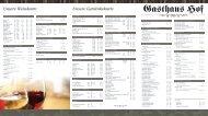 Unsere Weinkarte Unsere Getränkekarte - Gasthaus Hof