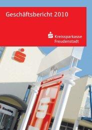 Geschäftsbericht 2010 - Kreissparkasse Freudenstadt