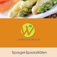 Spargel-Spezialitäten - Gasthaus Waldheim, Hermetschwil