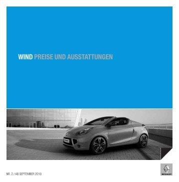 WIND PREISE UND AUSSTATTUNGEN - Garage Sigrist AG