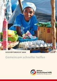 Geschäftsbericht 2010 (PDF) - Aktion Deutschland Hilft