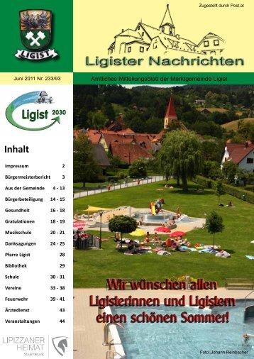 Ligister Nachrichten Juni 2011