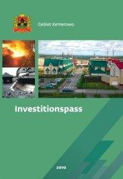Wirtschaftspotential des Gebiets Kemerowo