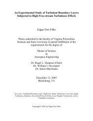 An Experimental Study of Turbulent Boundary Layers ... - Virginia Tech