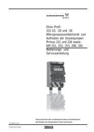 Etron Profi 331-10, -20 und -30 Mikroprozessorelektronik ... - Alldos