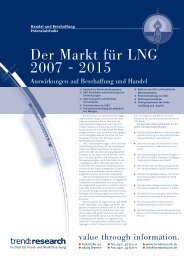 Der Markt für LNG 2007 - 2015 - trend:research