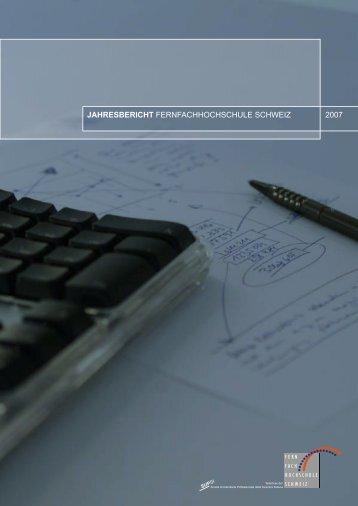 Jahresbericht FFHS 2007.pdf - Fernfachhochschule Schweiz