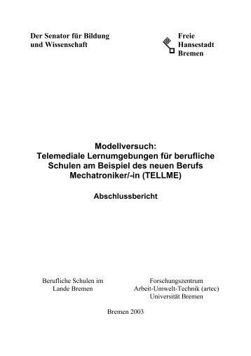 TellMe- Abschlußbericht - artecLab - Universität Bremen