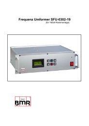 Frequenz Umformer SFU-0302-19 - BMR GmbH