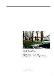 Wohngebiet Stockerhut Integriertes Handlungskonzept