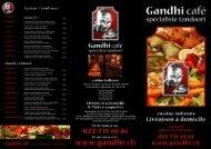 Menu au format PDF - Gandhi Café