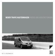 NEUER TRAFIC KASTENWAGEN PREISE UND ... - Garage Sigrist AG