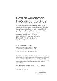 FISCH MENÜ - Gasthaus zur Linde Steinhausen