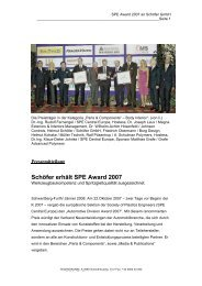 Schöfer erhält SPE Award 2007 - Schöfer GmbH
