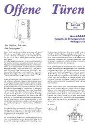 Juni / Juli - Evangelische Kirchengemeinde Neckargartach