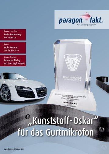 """""""Kunststoff-Oskar"""" für das Gurtmikrofon - paragon AG"""
