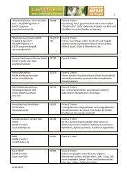 Download der Ausstellerliste (PDF) - Land & Genuss