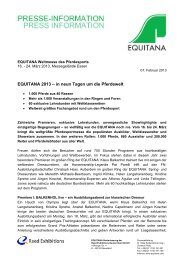 Pressemitteilung: Messevorschau (pdf, 180 KB) - Equitana