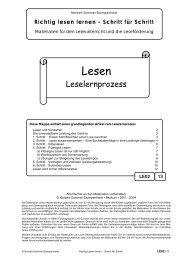 Richtig lesen lernen - Schritt für Schritt