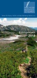 Unser Flyer als PDF-Datei zum Download - Bildungsurlaub ...