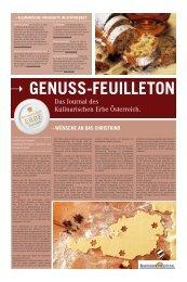 Genuss Feuilleton Winter 2012 - Kulinarisches Erbe Österreich