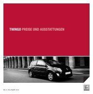 TWINGO PREISE UND AUSSTATTUNGEN - Garage Sigrist AG