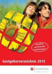 Gastgeberverzeichnis 2013 - Gemeinde Schortens