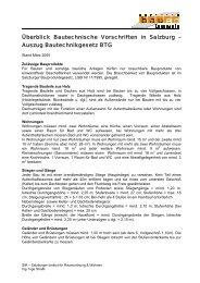 Überblick Bautechnische Vorschriften in Salzburg ... - bauen innovativ
