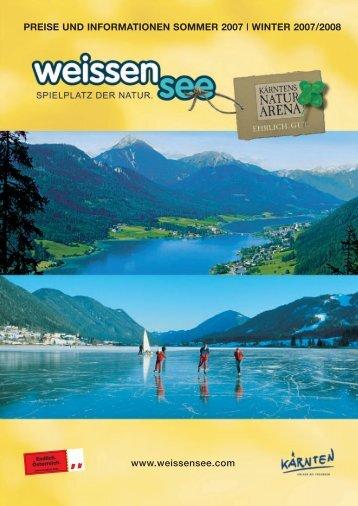 preise und informationen sommer 2007 | winter 2007/2008