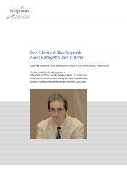 Das Edelstahl-Glas-Tragwerk eines Bankgebäudes in ... - Euro Inox