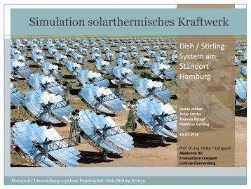 Simulation solarthermisches Kraftwerk - Matthias Gehling ...