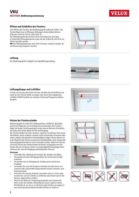 Relativ und Bedienungsanleitung für VELUX Klapp-Schwing-Fenster aus ZL74