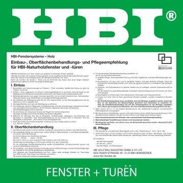 FENSTER + TUREN - HBI Holz-Bau-Industrie GmbH & Co. KG