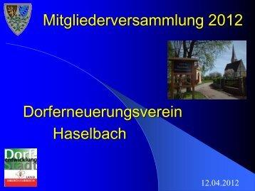 Powerpoint Jahreshauptversammlung 2012 - Dorferneuerung ...