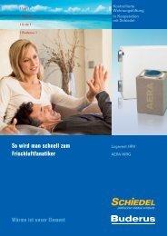 Broschüre Logavent HRV und Schiedel - Buderus